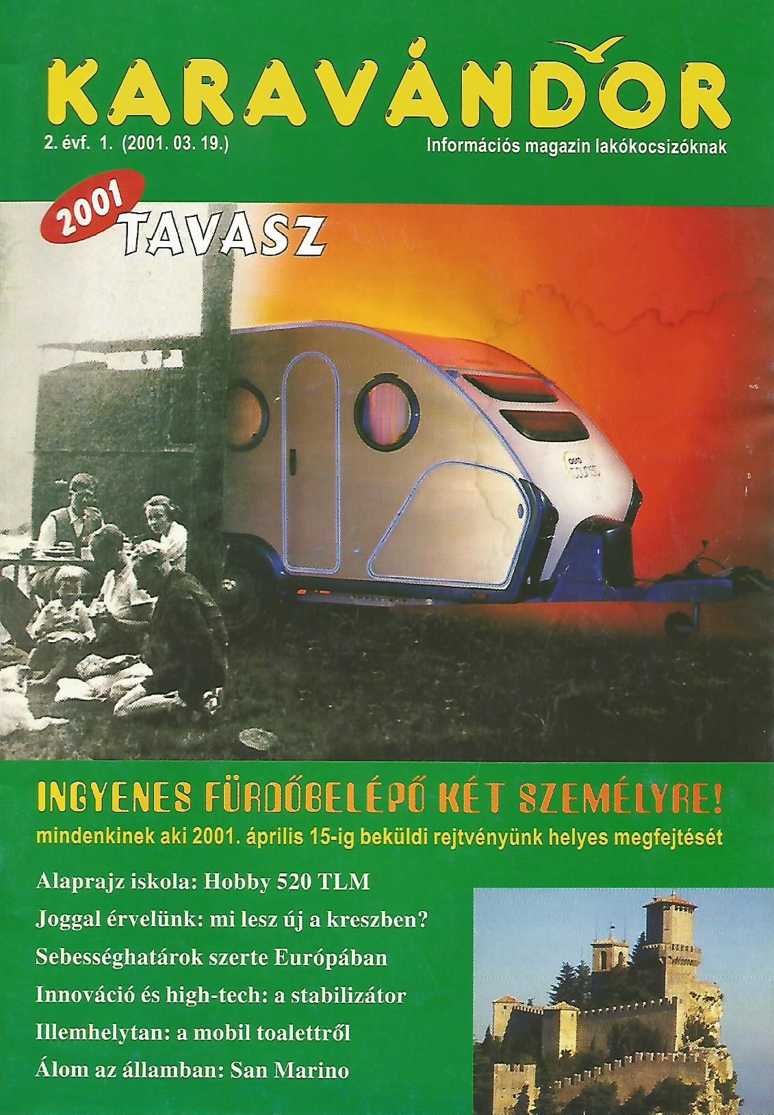 Karavándor Magazin 2001 Tavasz