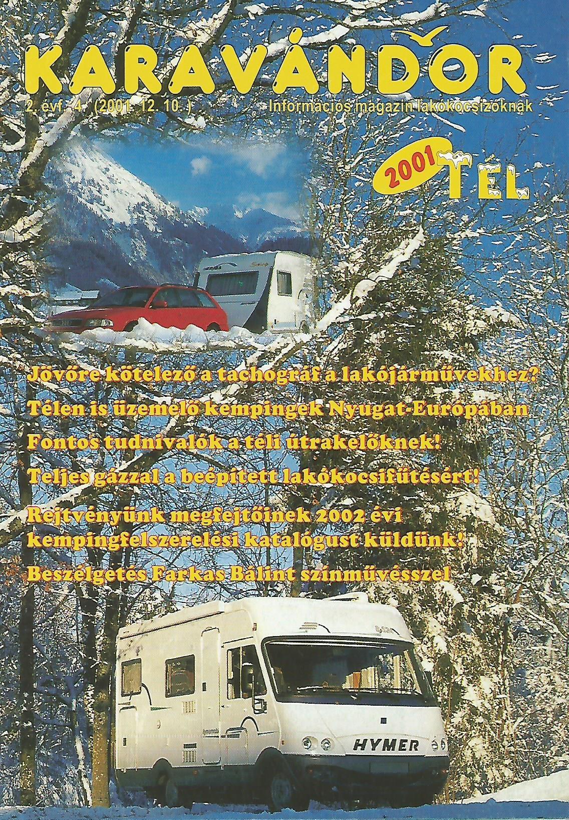 Karavándor Magazin 2001 Tél