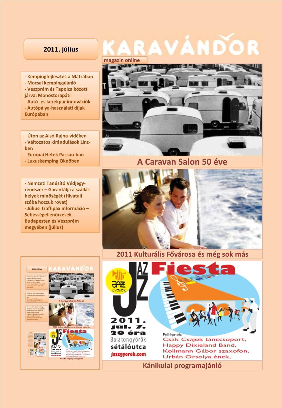 Karavándor magazin 2011. Ősz